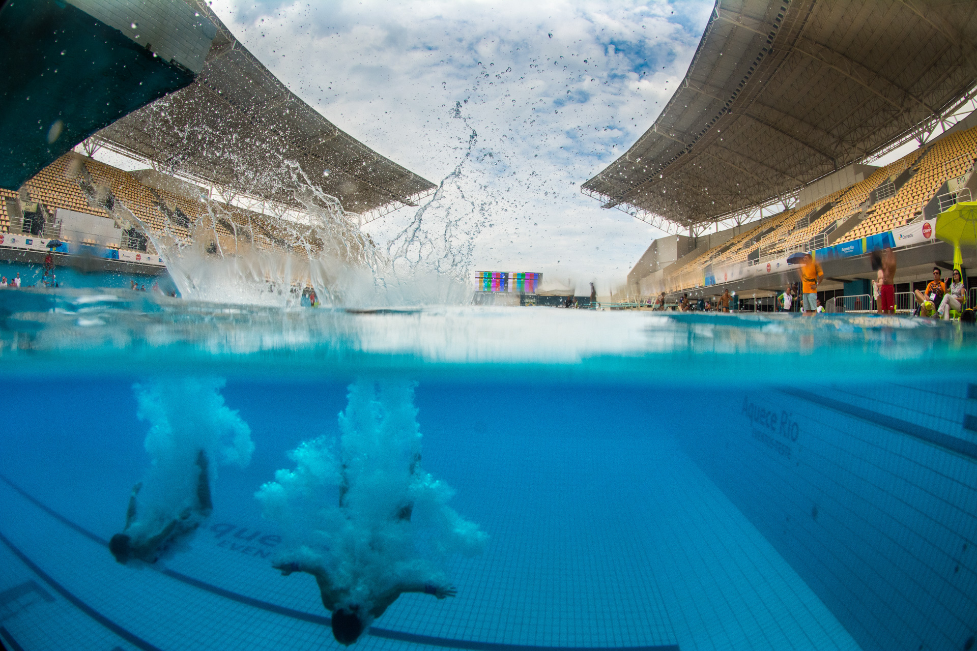 16/02/2016. Test-Event. Saltos Ornamentáis. Mundial. Diving Wor