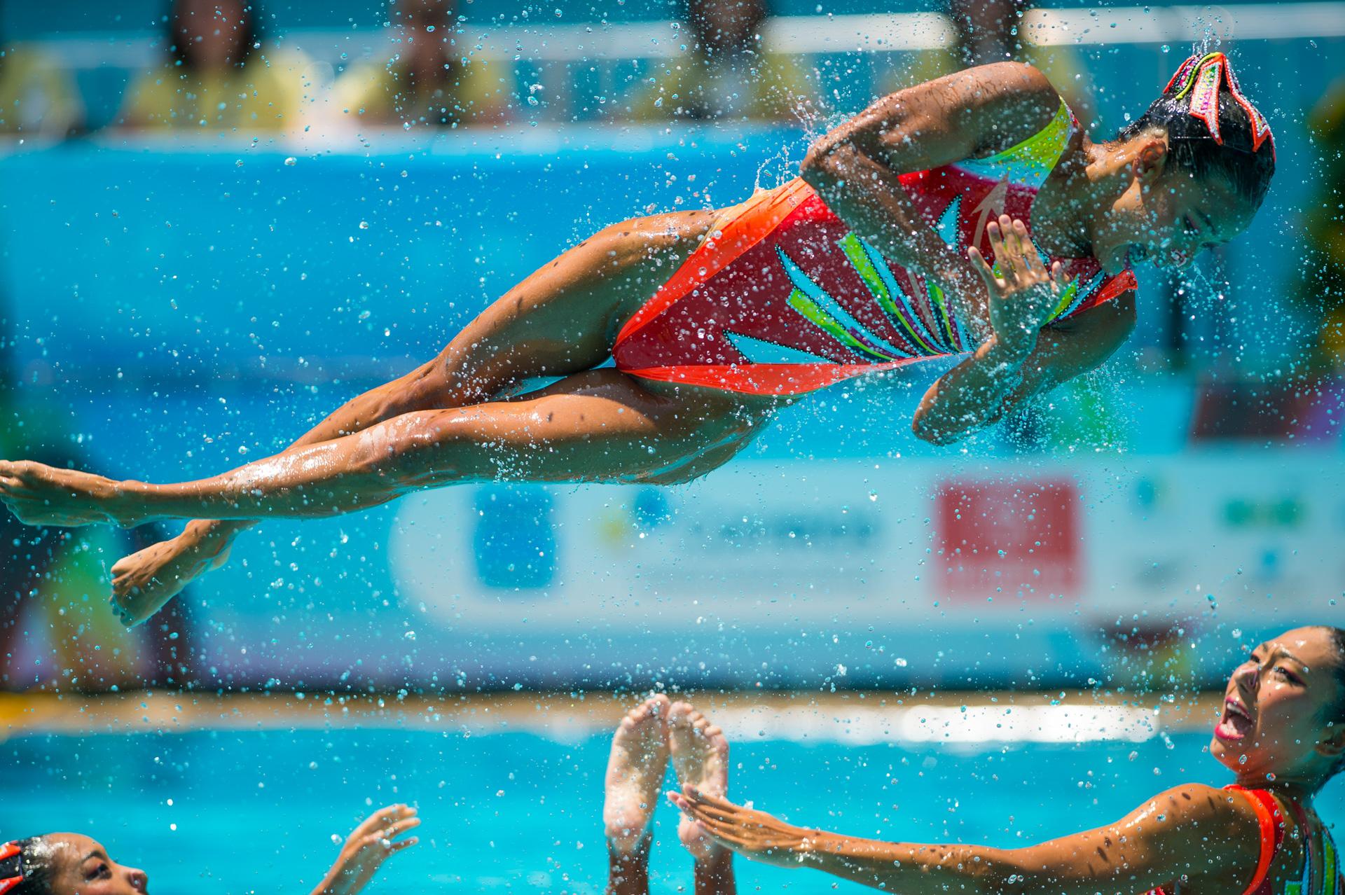 06/03/2016. Test-Event. Nado Sincronizado. Synchronised Swimming