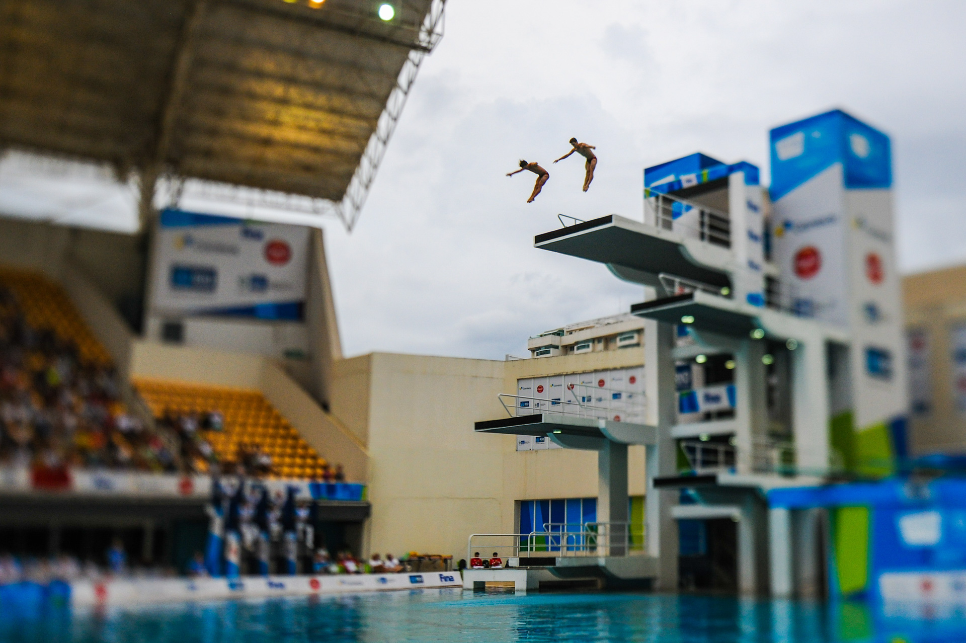 21/02/2016. Test-Event. Saltos Ornamentáis. Competição. Salto